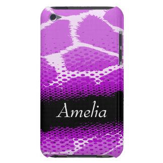 Caja gráfica púrpura y negra de iPod del estampado iPod Touch Case-Mate Protectores