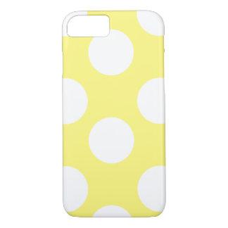 Caja grande amarilla y blanca del teléfono del funda iPhone 7