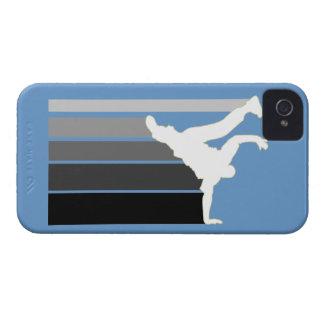 Caja gris/blanca de la pendiente de BBOY del iPhon iPhone 4 Case-Mate Coberturas