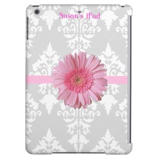 Caja gris, blanca y rosada del aire del iPad de la