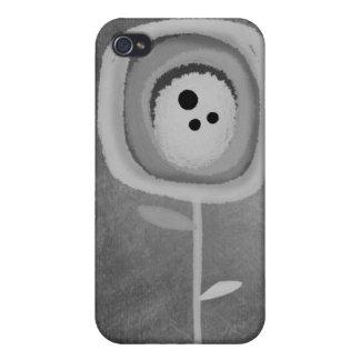 Caja gris blanco y negro gris de la mota de la ama iPhone 4/4S carcasas
