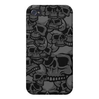 caja gris del cráneo iPhone 4 carcasas