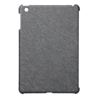 Caja gris del iPad de la textura de la tela