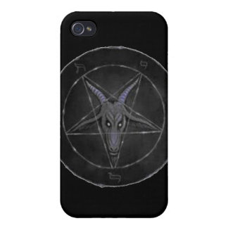 Caja gris del iPhone 4 de Baphomet iPhone 4/4S Carcasa