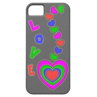 Caja gris del iPhone 5 de los corazones del multic iPhone 5 Case-Mate Cárcasa
