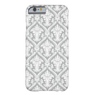Caja gris del iPhone 6 del modelo del damasco Funda De iPhone 6 Barely There