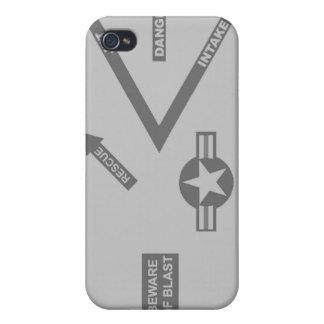 Caja gris del motor del combatiente - mota iPhone4 iPhone 4 Carcasa