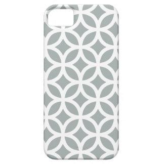 Caja gris geométrica del iPhone 5/5S de Paloma iPhone 5 Case-Mate Protectores