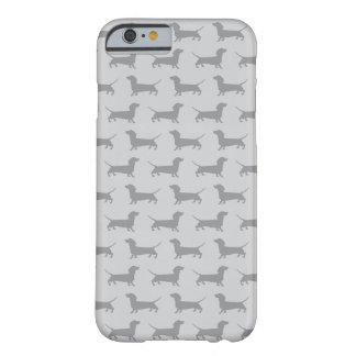 Caja gris linda del iPhone 6 del modelo del perro Funda De iPhone 6 Barely There