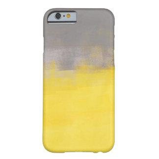 Caja gris y amarilla del iPhone 6 del arte