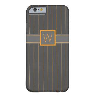 Caja gris y anaranjada de la casamata de las telas funda de iPhone 6 barely there