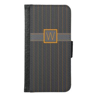 Caja gris y anaranjada de Smartphone de las telas
