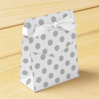 Caja gris y blanca del favor de los lunares caja para regalos de fiestas
