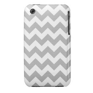 Caja gris y blanca del iPhone de Chevron Case-Mate iPhone 3 Protectores