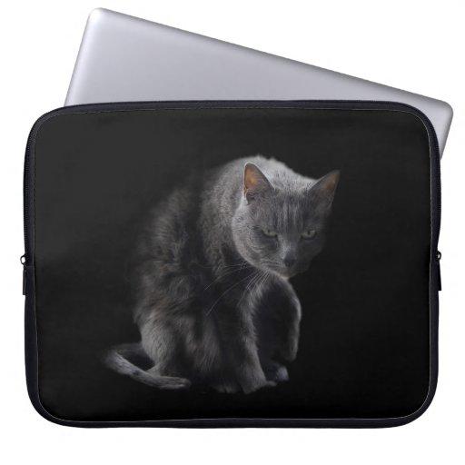 Caja gruñona del ordenador portátil del gato manga computadora