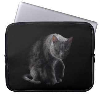Caja gruñona del ordenador portátil del gato funda ordendadores