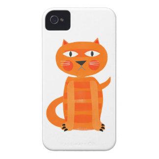 Caja gruñona del teléfono del gato carcasa para iPhone 4