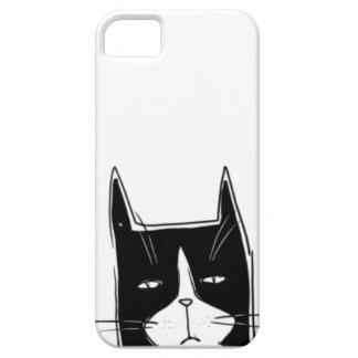 Caja gruñona del teléfono del gato iPhone 5 cárcasas
