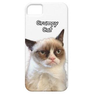 Caja gruñona del teléfono del gato iPhone 5 Case-Mate protectores