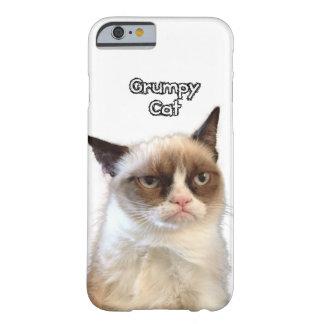 Caja gruñona del teléfono del gato funda de iPhone 6 barely there