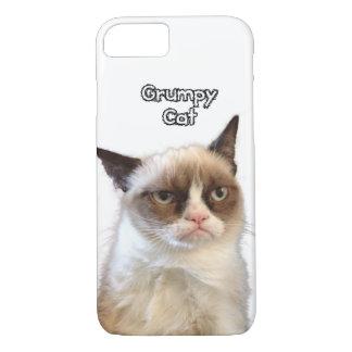 Caja gruñona del teléfono del gato funda iPhone 7