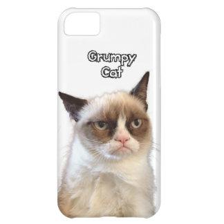Caja gruñona del teléfono del gato funda para iPhone 5C