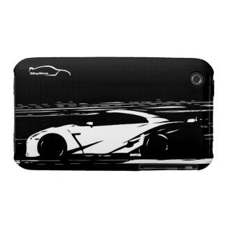 Caja GTR del tiro 3G del balanceo del horizonte Case-Mate iPhone 3 Coberturas
