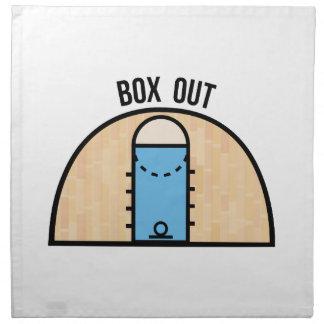 Caja hacia fuera servilleta imprimida