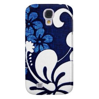 Caja hawaiana azul del iPhone 3G del hibisco Funda Para Galaxy S4