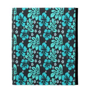 Caja hawaiana azul eléctrica del folio del iPad
