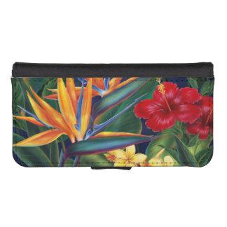 Caja hawaiana de la cartera del iPhone del paraíso Billeteras Para Teléfono