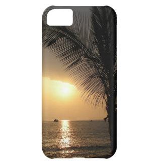 Caja hawaiana de la casamata de la puesta del sol funda para iPhone 5C
