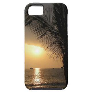 Caja hawaiana de la casamata de la puesta del sol iPhone 5 fundas