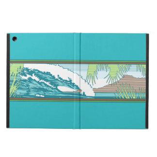 Caja hawaiana del aire del iPad de la muestra de