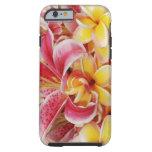Caja hawaiana del teléfono de las flores funda para iPhone 6 tough