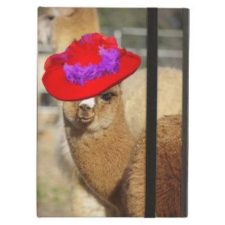 Caja hermosa del aire del iPad de la alpaca