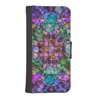 Caja hermosa loca de la cartera del extracto billetera para iPhone 5