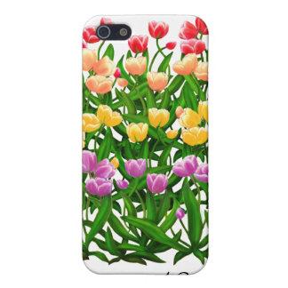 Caja holandesa de la mota del jardín del tulipán iPhone 5 carcasas
