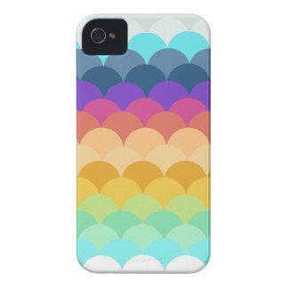 Caja horneada a la crema y con pan rallado colorid iPhone 4 Case-Mate protectores