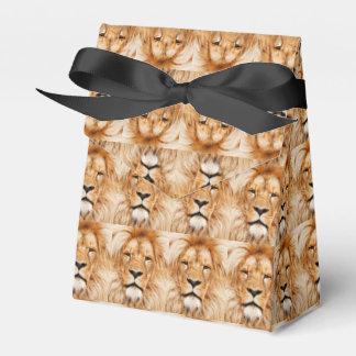 Caja imponente del favor del retrato del león cajas para detalles de boda