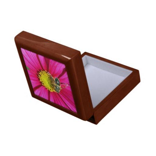 caja imponente del jewl de la flor joyero cuadrado pequeño