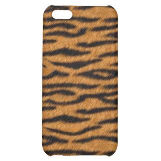 Caja impresa piel negra anaranjada del iPhone 4 de