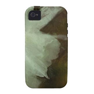 Caja impresionista del teléfono de la pintura del  vibe iPhone 4 carcasas