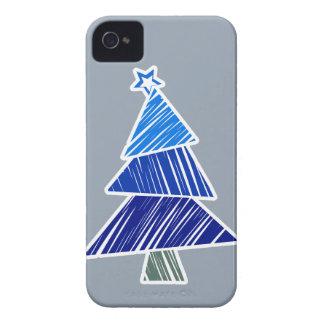 Caja incompleta azul de Blackberry del árbol de Funda Para iPhone 4 De Case-Mate