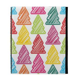 Caja incompleta colorida del iPad de los árboles d