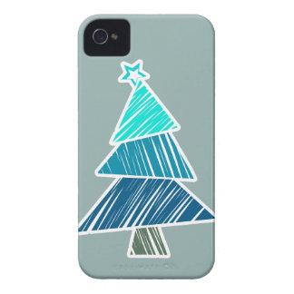 Caja incompleta de Blackberry del árbol de navidad Funda Para iPhone 4 De Case-Mate
