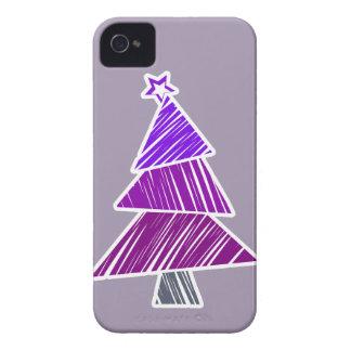 Caja incompleta púrpura de Blackberry del árbol de Carcasa Para iPhone 4 De Case-Mate