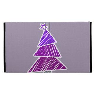 Caja incompleta púrpura del iPad del árbol de navi