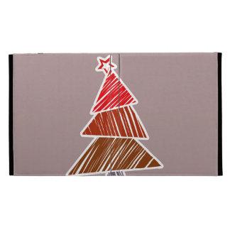 Caja incompleta roja del iPad del árbol de navidad