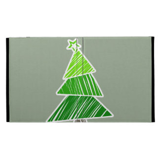Caja incompleta verde del iPad del árbol de navida